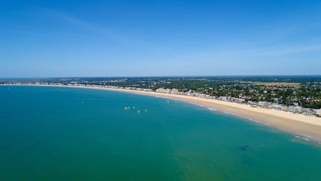 Photo aérienne de la baie de La Baule